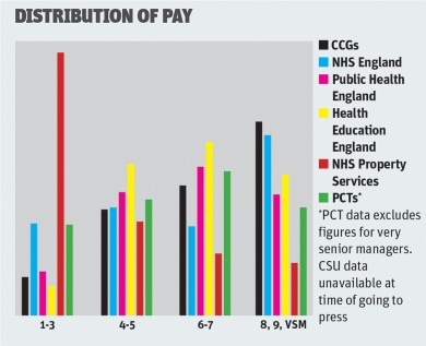 Distribution of pay graph