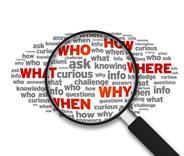 Think intelligence smart questions Magnifying glass