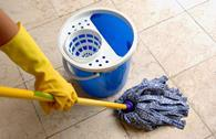 infection control washing cleaning mop floor