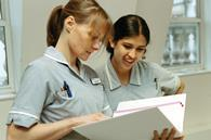 Student nurse and mentor
