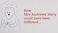 Screen grab of new Mrs Andrews\' video