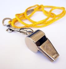 A football referees whistle