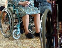 Olderpatient in wheelchair