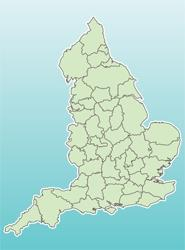 A map of England's regions