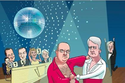 Andrew Lansley and David Nicholson ballroom dancing